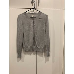 BANANA REPUBLIC grey cardigan. size s
